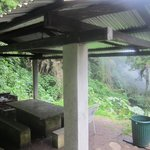 Cooking area outside all bungalows (will be comandeered by visitors during business hours!)