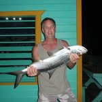 Tarpon caught after dinner on the dock