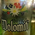 Part way through a cool Birra Dolomiti.