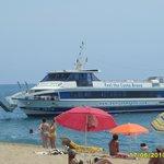 boat trip we went on from callela to tossa de mar