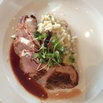 Duck, risotto and Fig sauce