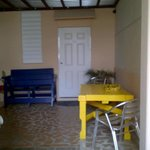 tables and chairs outside our room