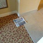 Paper left on floor