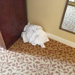 Dirty towels the maid left in my room