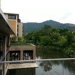 ホテルハーベスト箱根甲子園のお庭からの眺めです
