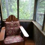 Screened porch of Birch Cabin