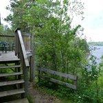 Steps up to Birch Cabin