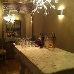 Honor Bar for Ivy Guests with tea, espresso, wine, soda, liquor, water...
