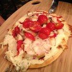 Chiken au pesto façon pizza