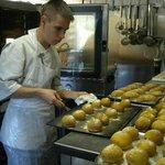 Réalisation du pain à l'auberge