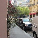 View  along  the  street  towards  the  Place Saint Ferdinand