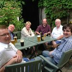 Our choir enjoying a drink in the beer garden