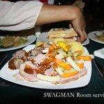 Look at the food, the Swagman always has great food