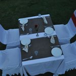 Table setup in the Lawn