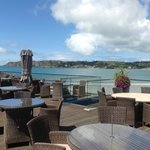 Stunning deck views of St Brelade Bay