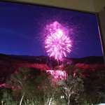 Fireworks & mountainside view from the balcony of the room