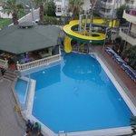 Hotel pool/ balcony view