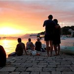 Enjoying the Sunset after the Sea Kayaking in Cavtat.