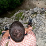 the top of coba's pyramid (nohoch mul)