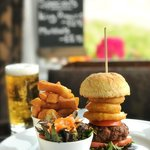 Our Homemade Beef Burger from our Early Bird Menu