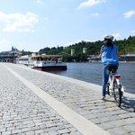 E-bike view at Vltava river