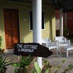 Terasse eines der Cottages