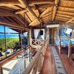 Lodge B.Bardot - Master double bedroom area with spectacular view of Patara Beach
