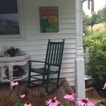 Front porch and sign for Ambrosia Farm