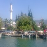 Dalyan harbour and mosque