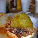 Basic pork 'Q, extra pickles