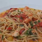Amazing spaghetti with shrimps