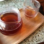 Golden Needles Black Tea....loved the presentation & even but one of these double walled glass c