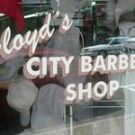 Floyd's front window