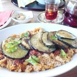 Couscous with eggplant