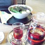 Hibiscus tea and Pho soup