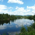 Adirondack Scenic RR-the most scenic view arriving at Lake Placid