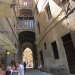 Street view from Il Sasso outdoor table