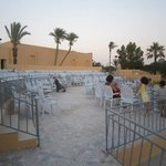 amphitheatre opening night before guests arrived