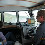 Leigh at the helm