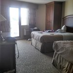 Our room (2 double beds)