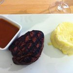 filet with mashed potatoes, excellent!