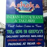 Restaurant's sign on main road