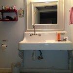 Bathroom with farm sink
