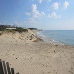 Uitzicht op strand