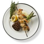 Filet Mignon and Grilled Shrimp
