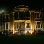 front of house at night