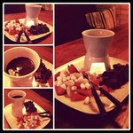 Chocolate fondue - perfect for sharing!