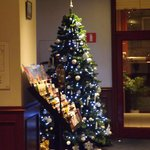 Christmas tree in foyer area