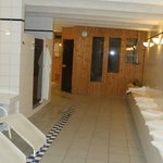 Sauna and relaxing room