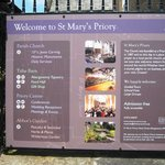 St Marys and Tithe Barn Abergavenny The Welcome Board